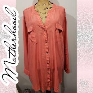 💋3x maternity blouse button up motherhood